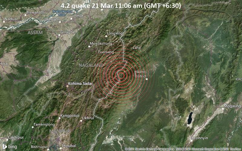 4.2 Gempa 21 Maret 11:06 (GMT +6: 30)