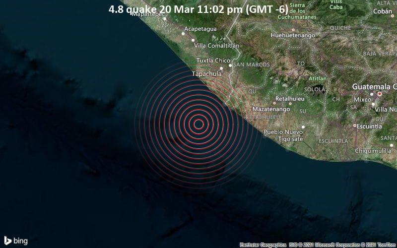 4.8 Gempa 20 Maret 11:02 (GMT -6)