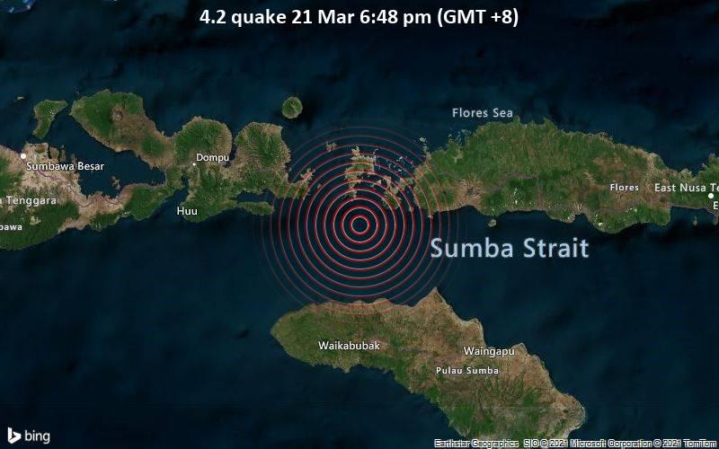 4.2 Gempa 21 Maret 18:48 (GMT +8)