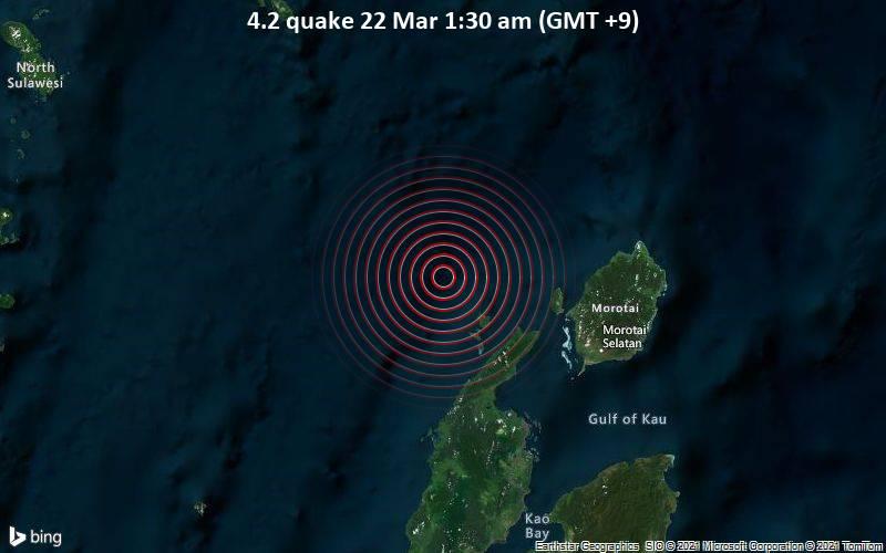 4.2 Erdbeben vom 22. März 1:30 Uhr (GMT +9)
