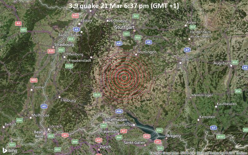 3.9 Erdbeben 21. März 18.37 Uhr (GMT +1)