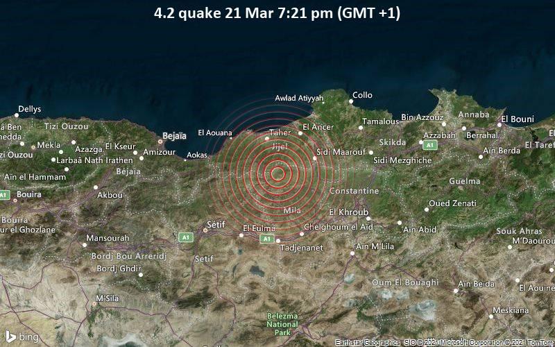 4.2 quake 21 Mar 7:21 pm (GMT +1)