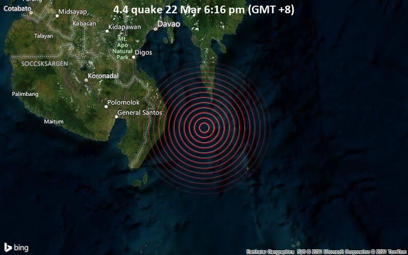 4.4 quake 22 Mar 6:16 pm (GMT +8)
