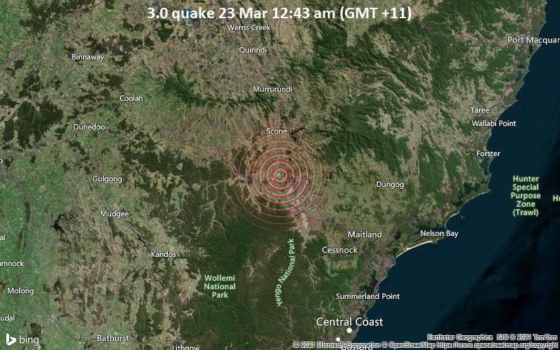 3.0 quake 23 Mar 12:43 am (GMT +11)
