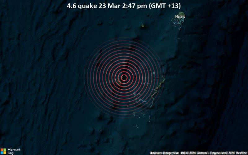 4.6 quake 23 Mar 2:47 pm (GMT +13)