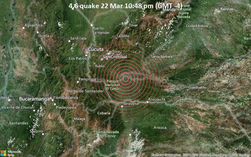 4.6 quake 22 Mar 10:48 pm (GMT -4)