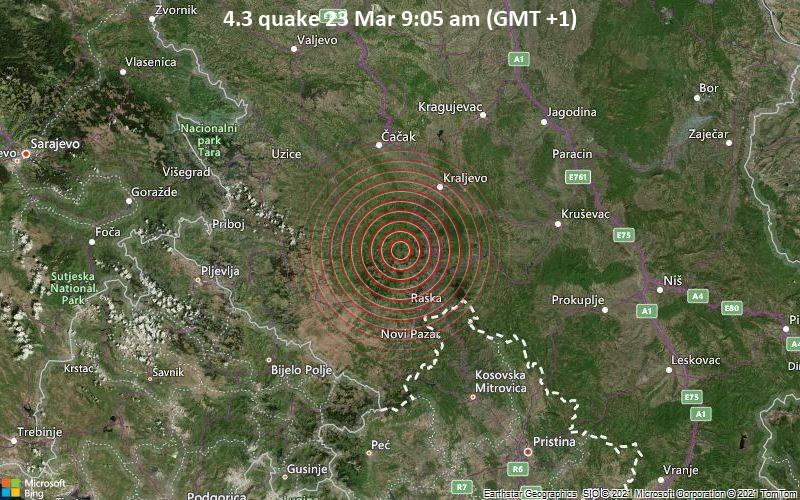 4.3 Gempa 23 Maret 09:05 (GMT +1)