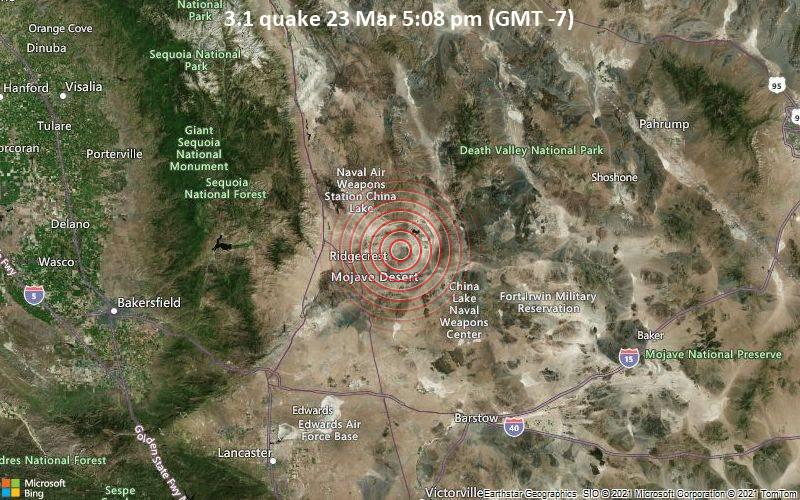 3.1 Gempa bumi 23 Maret 17:08 (GMT -7)