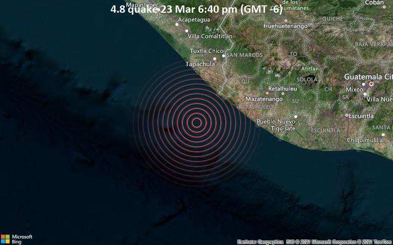 4.8 Gempa bumi 23 Maret 18:40 (GMT -6)