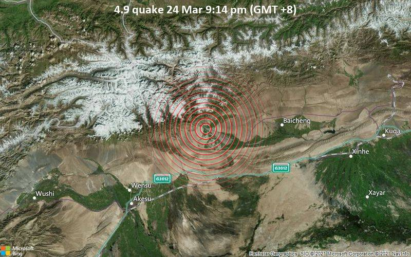4.9 quake 24 Mar 9:14 pm (GMT +8)