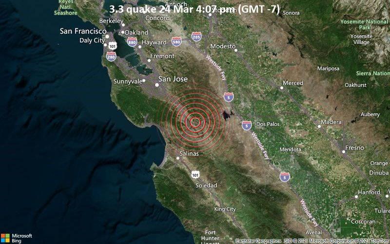 3.3 quake 24 Mar 4:07 pm (GMT -7)