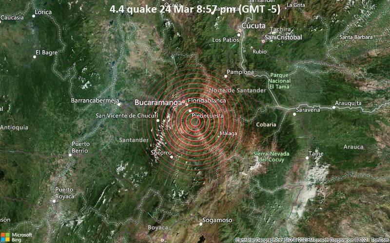 4.4 quake 24 Mar 8:57 pm (GMT -5)