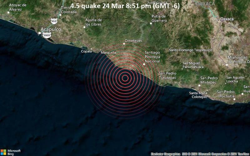 4.5 quake 24 Mar 8:51 pm (GMT -6)