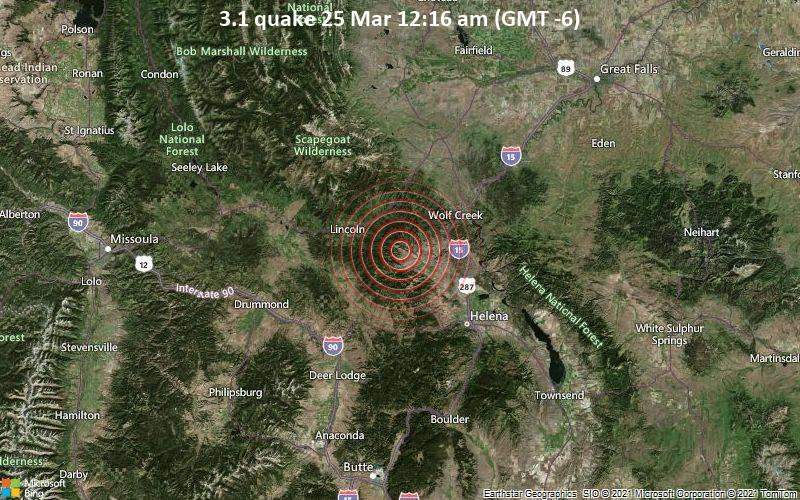 3.1 quake 25 Mar 12:16 am (GMT -6)