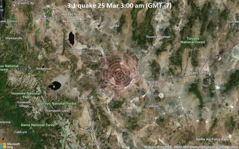 3.1 quake 25 Mar 3:00 am (GMT -7)