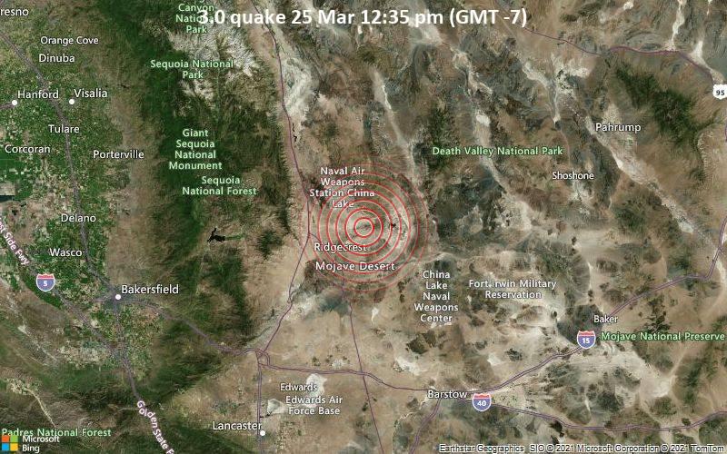 3.0 Gempa bumi 25 Maret 12:35 (GMT -7)
