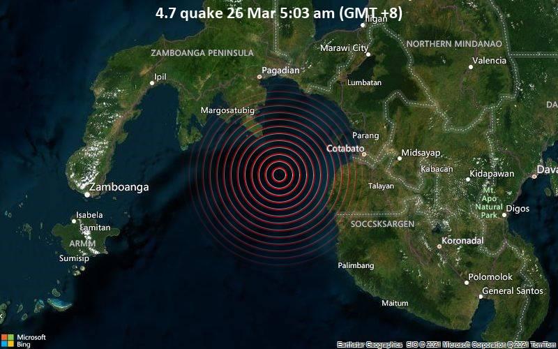 4.7 Gempa 26 Maret 5:03 (GMT +8)