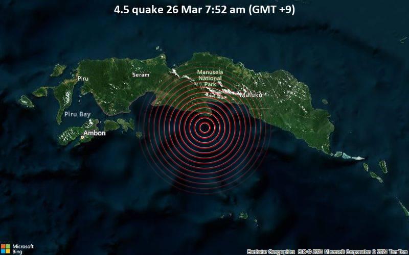 4.5 quake 26 Mar 7:52 am (GMT +9)