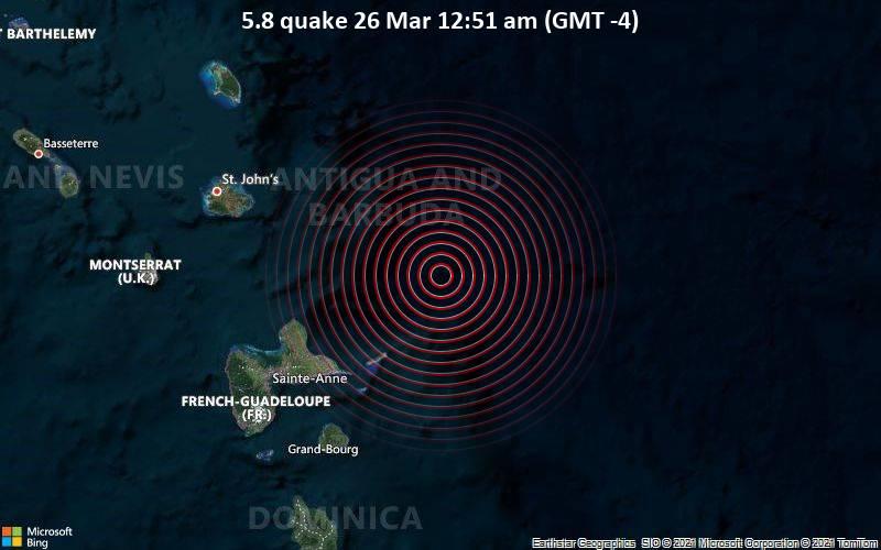 5.8 quake 26 Mar 12:51 am (GMT -4)
