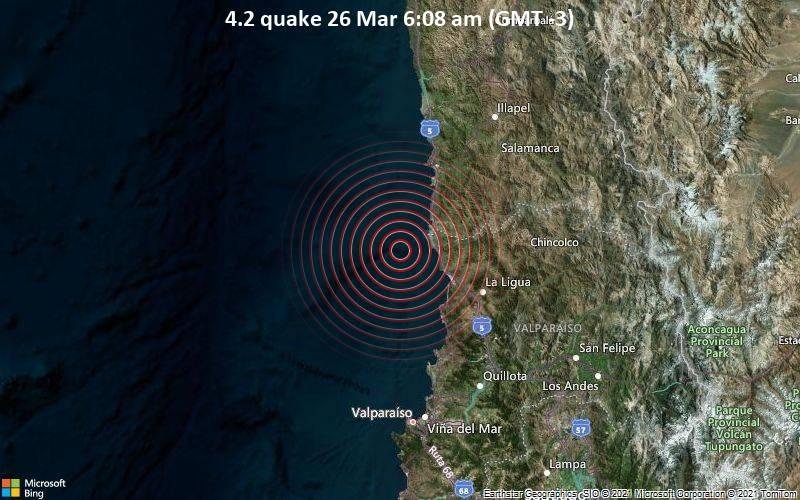 4.2 Gempa 26 Maret 6:08 (GMT -3)