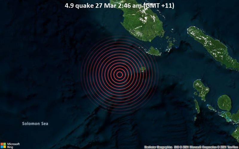 4.9 Gempa 27 Maret 2:46 AM (GMT +11)