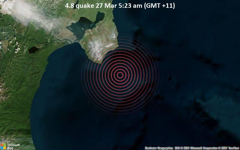 4.8 quake 27 Mar 5:23 am (GMT +11)