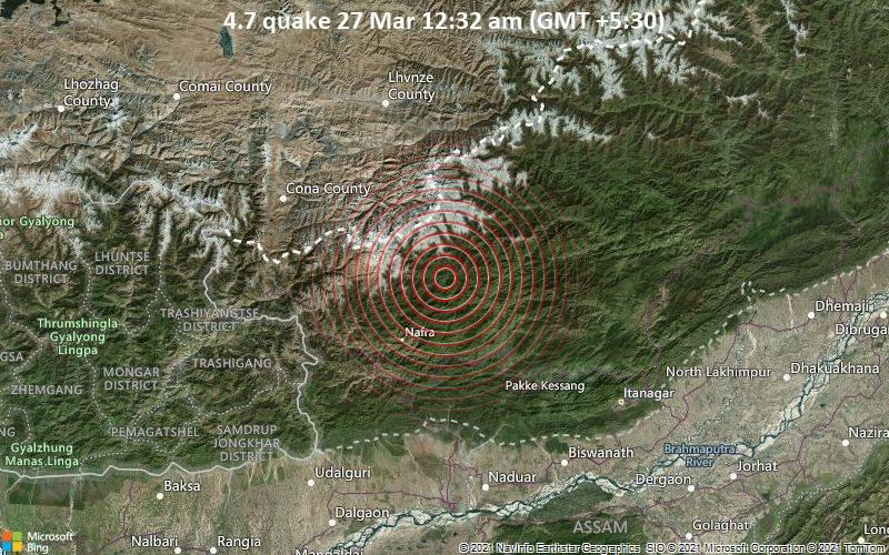4.7 quake 27 Mar 12:32 am (GMT +5:30)