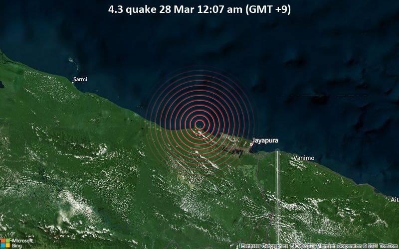 4.3 quake 28 Mar 12:07 am (GMT +9)