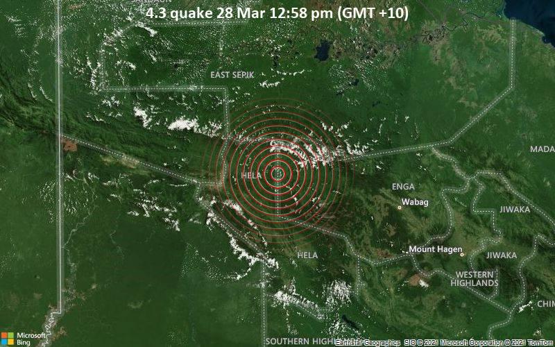 4.3 quake 28 Mar 12:58 pm (GMT +10)