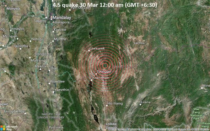 4.5 quake 30 Mar 12:00 am (GMT +6:30)