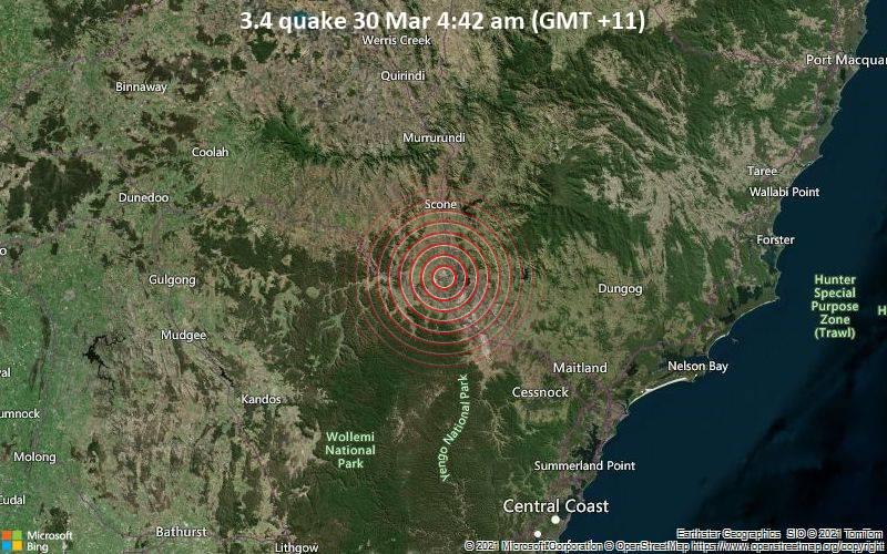 3.4 quake 30 Mar 4:42 am (GMT +11)