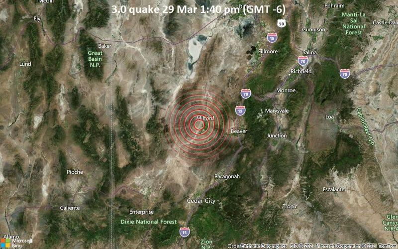 3.0 quake 29 Mar 1:40 pm (GMT -6)