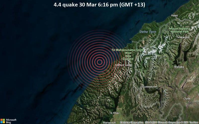 4.4 quake 30 Mar 6:16 pm (GMT +13)
