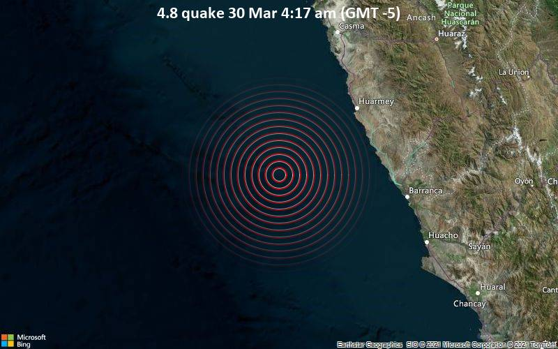 4.8 quake 30 Mar 4:17 am (GMT -5)