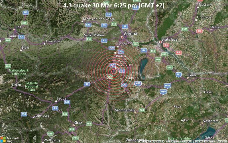 4.3 quake 30 Mar 6:25 pm (GMT +2)