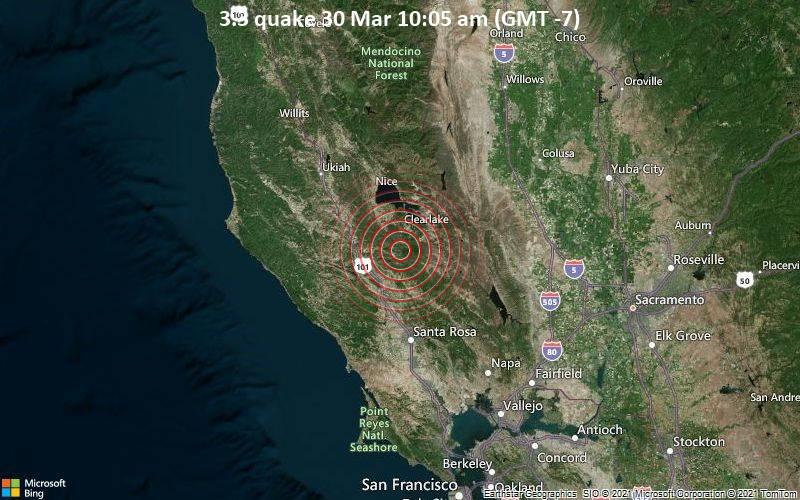 3.3 Terremoto 30 de marzo 10:05 AM (GMT -7)