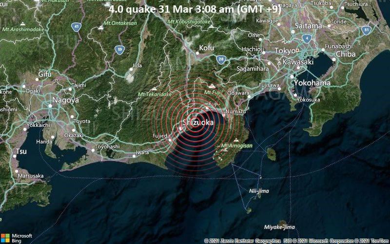 4.0 quake 31 Mar 3:08 am (GMT +9)