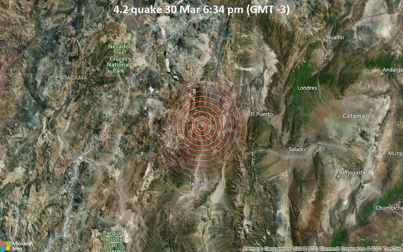 4.2 quake 30 Mar 6:34 pm (GMT -3)