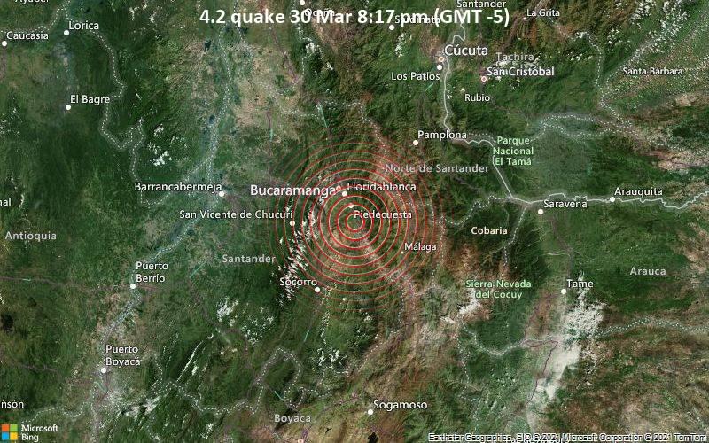 4.2 quake 30 Mar 8:17 pm (GMT -5)