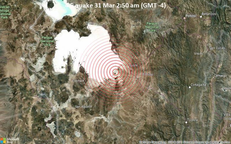 4.5 quake 31 Mar 2:50 am (GMT -4)