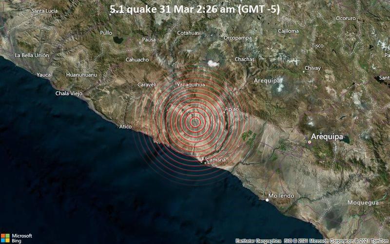5.1 quake 31 Mar 2:26 am (GMT -5)