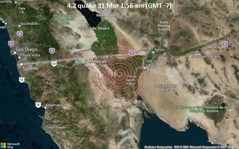 4.2 quake 31 Mar 1:56 am (GMT -7)