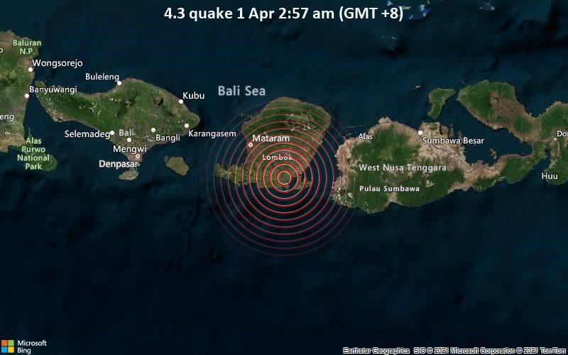 4.3 quake 1 Apr 2:57 am (GMT +8)