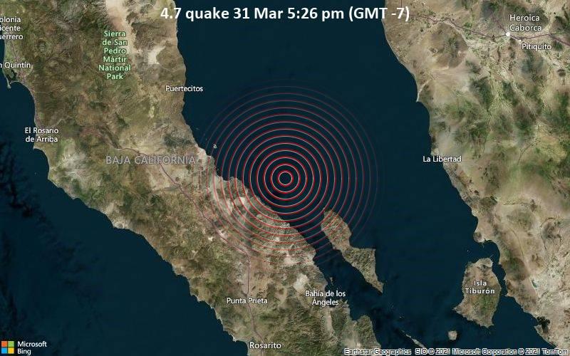 4.7 quake 31 Mar 5:26 pm (GMT -7)
