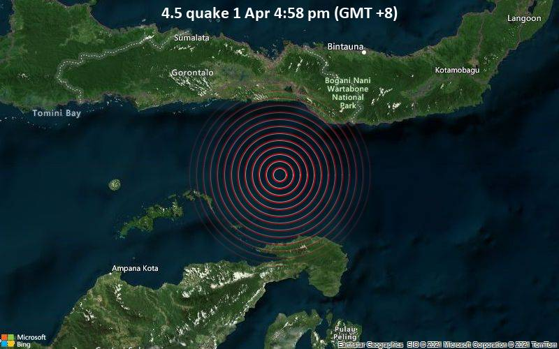 4.5 quake 1 Apr 4:58 pm (GMT +8)