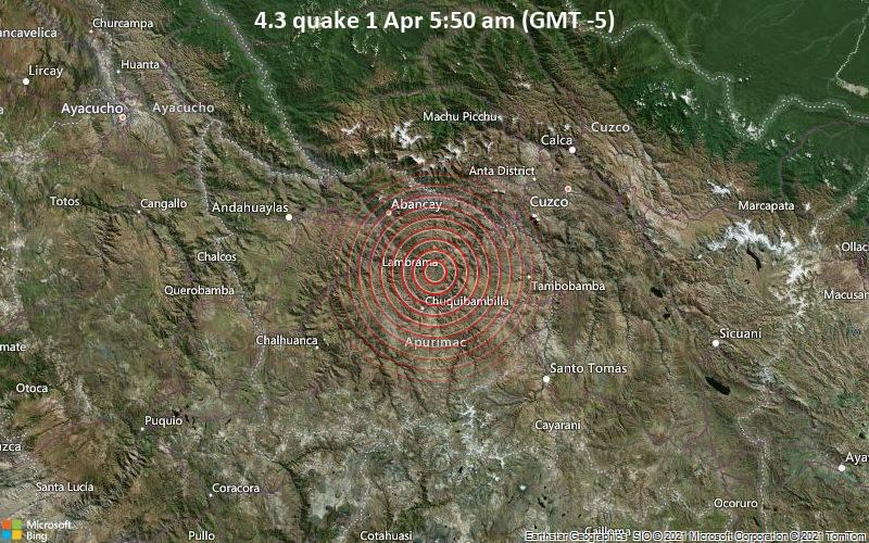 4.3 quake 1 Apr 5:50 am (GMT -5)