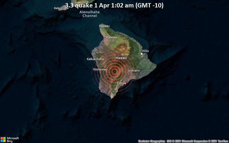 3.3 Gempa 1 April 01:02 (GMT -10)