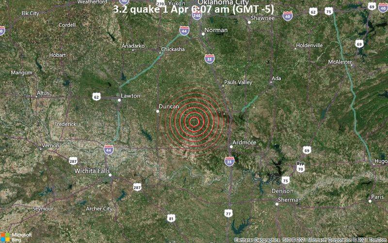 3.2 Gempa 1 April 6:07 AM (GMT -5)