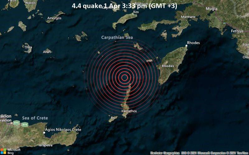4.4 Gempa 1 April 15:33 (GMT +3)