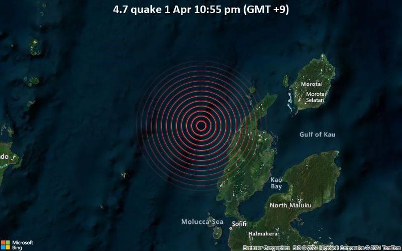 4.7 quake 1 Apr 10:55 pm (GMT +9)